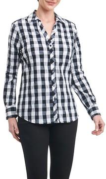 Foxcroft Women's Mary Buffalo Check Crinkle Shirt