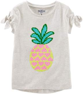 Osh Kosh Oshkosh Bgosh Girls 4-12 Pineapple Flip Sequin Graphic Tee