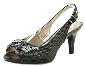 Karen Scott Branca Women Peep-toe Canvas Slingback Heel.