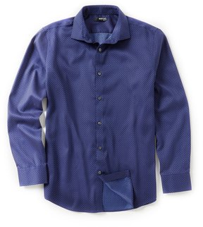 Murano Long-Sleeve Slim-Fit Spread Collar Sportshirt