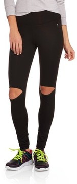 Danskin Juniors' High Waisted Leggings with Cut Out Knee