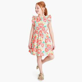 J.Crew Girls' ruffle dress in cactus floral