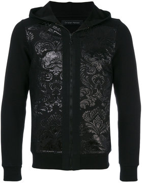 Christian Pellizzari jacquard zipped hoodie