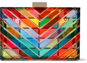 Valentino 1973 Acrylic Box Clutch