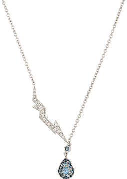 Finn Women's Pavé Lightning Bolt & Drop Pendant Necklace