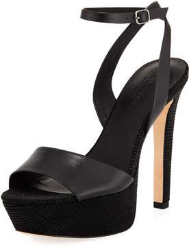 Halston Bobbie Leather Platform Sandal