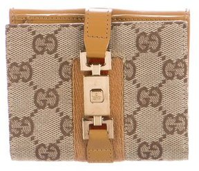 Gucci GG Canvas Jackie Wallet - BROWN - STYLE