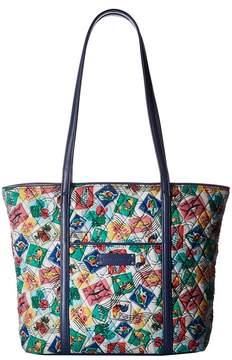 Vera Bradley Small Trimmed Vera Tote Handbags - CUBAN STAMPS - STYLE