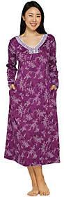 Carole Hochman Petite Etched Floral Interlock Long Gown