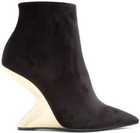 Salvatore Ferragamo Bolgheri velvet F-wedge ankle boots