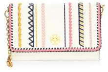 Tory Burch Kira Whipstitch Leather Clutch - MULTI - STYLE