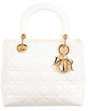 Christian Dior Patent Medium Lady Dior Bag