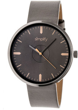 Simplify The 4500 Unisex Brown Strap Watch-Sim4506