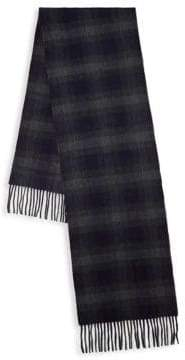 Saks Fifth Avenue Check Cashmere Scarf