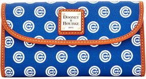 Dooney & Bourke Chicago Cubs Large Continental Clutch - BLUE - STYLE