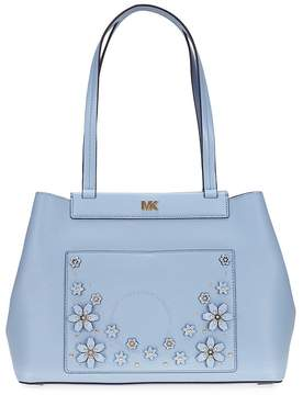 Michael Kors Meredith Medium East West Bonded Tote- Pale Blue - ONE COLOR - STYLE