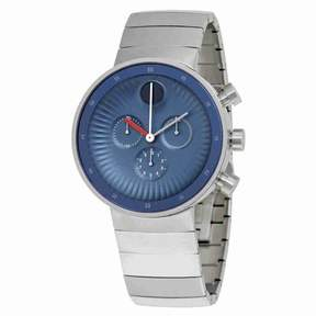 Movado Edge Chronograph Blue Dial Stainless Steel Men's Watch 3680010