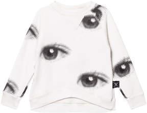 Nununu White Eye Print Sweatshirt