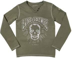 Zadig & Voltaire Skull Printed Cotton Jersey T-Shirt