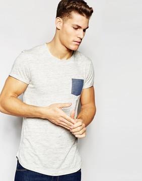 Esprit T-Shirt with Contrast Pocket