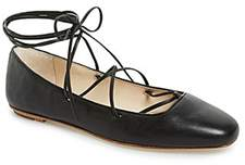Delman Nappa Leather Faith Flats.