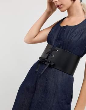 Asos Leather Lace Up Front Corset Belt