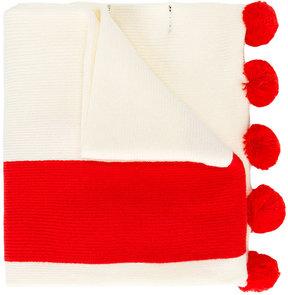 Mini Rodini dog intarsia-knit scarf