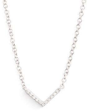 Ef Collection Women's Mini Chevron Diamond Pendant Necklace