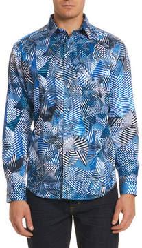 Robert Graham Santos Fractured-Print Sport Shirt