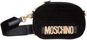 Moschino Velvet Logo Belt Bag