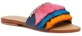 Trina Turk Fringe Fatale Leather Slip-On Sandal