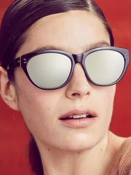 Linda Farrow Luxe Women's Platinum Angular Cat Eye Frame