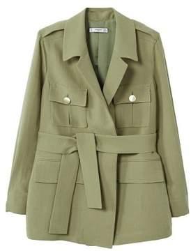 MANGO Pocketed soft fabric jacket