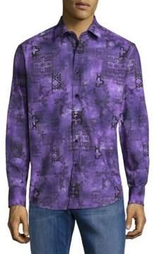Robert Graham Estuary Cotton Button-Down Shirt