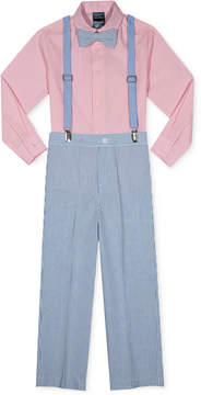 Nautica 4-Pc. Shirt, Pants, Bow Tie & Suspenders Set, Toddler Boys