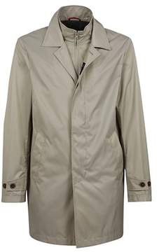 Fay Men's Beige/grey Polyamide Outerwear Jacket.
