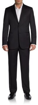 Saks Fifth Avenue BLACK Classic-Fit Wool Two-Button Tuxedo