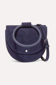 Theory Whitney Suede Shoulder Bag - Navy