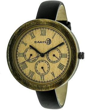 Earth Brush Collection ETHEW3804 Women's Wood Watch with Leather Strap