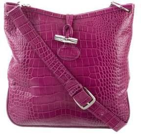 Longchamp Embossed Roseau Crossbody Bag