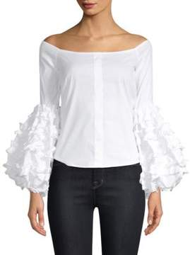 Caroline Constas Gisele Off-The-Shoulder Top
