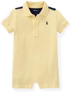 Ralph Lauren | Cotton Mesh Polo Shortall | 18-24 months | Wicket yellow multi