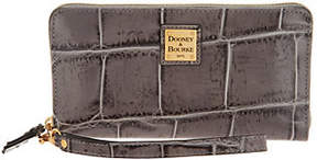 Dooney & Bourke Croco Leather Large Zip Around Wallet-Pembrook - ONE COLOR - STYLE