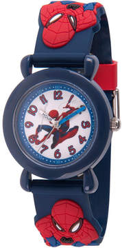 Marvel Spiderman Boys Blue Strap Watch-Wma000160
