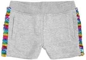 Little Marc Jacobs Cotton Sweat Shorts W/ Side Bands