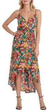ECI Women's Floral Print High/low Dress