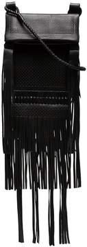 Saint Laurent black Tanger fringed leather cross body bag
