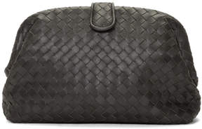 Bottega Veneta Grey Intrecciato The Lauren 1980 Clutch