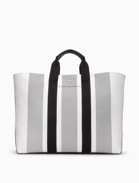 Calvin Klein striped jacquard large tote