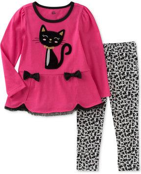 Kids Headquarters 2-Pc. Cat Tunic & Leggings Set, Little Girls (4-6X)